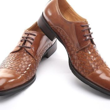 Men's Genuine Leather fashion casual Lace-Up flats shoes Party Wedding shoe for men business shoes