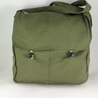 Vintage Military Bag Green Army Bag Messanger Bag Canvas USSR Soldier Bag Bag Crossbody Bag Soviet Bag Unisex Bag BEER BAG