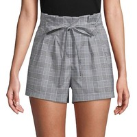 Plaid High-Rise Shorts by Lea & Viola at Gilt