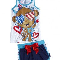 Monkey Tank And Short Pajama Set | Girls Sets Pajamas | Shop Justice