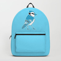 Blue Jay Backpacks by Artist Abigail