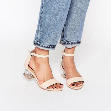 Truffle Collection | Truffle Collection Clear Heel Strap Sandal at ASOS