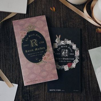 12 pcs/Lot Fairy tail planner memo agenda note pad Vintage notebook Alice OZ Stationery items gift office School supplies F156