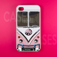 Iphone 4 Case - VW Minibus Pink Iphone Case,Iphone 4s Case