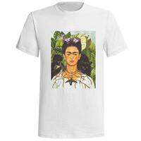 Frida Kahlo de Rivera Shirt Tee Unisex Women Men Short Sleeve Shirt Tshirt T-Shirt Top