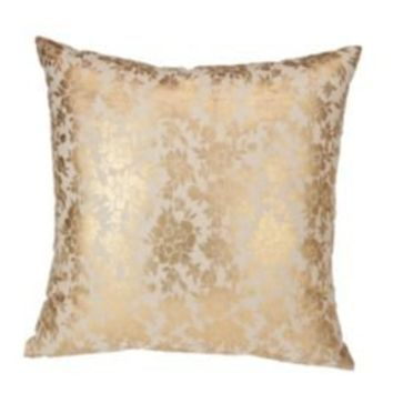 UrbanOutfitters.com > Gold Foiled Floral Pillow