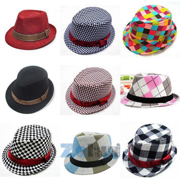 Hot Selling! Fashion Jazz Toddler Kids Baby Boy Girl Cap Cool Pography Fedora Hat Top Alternative Measures