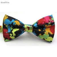 Hot Selling New Fashion Adjustable Printed Tie Men Bowties Wedding Tie Banquet Tie Butterfly