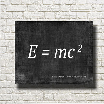 Theory of Relativity Albert Einstein 1905 Art Illustration Printable Instant Download Poster USO001grad