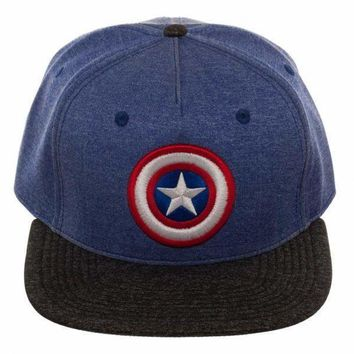 Captain America Two Tone Cationic Snapback Hat