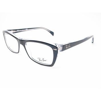 Ray-Ban RB 5255 Black on Transparent 5255 Eyeglasses