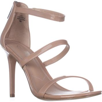Charles Charles David Ria Strappy Heeled Sandals, Nude Patent, 8.5 US