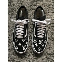 Louis Vuitton X Vans Old Skool Black/White Sneakers