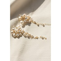 Pearl Cluster Tendril Earrings - Christine Elizabeth Jewelry