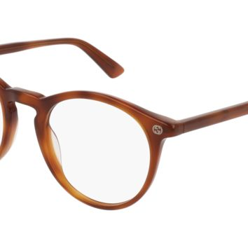 Gucci - GG0121O-003 Avana Eyeglasses / Demo  Lenses