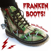 FRANKENBOOTS  blood and stitches combat boots