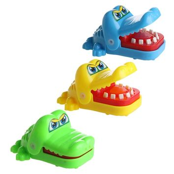 New Cute Crocodile Mouth Dentist Bite Finger Game Funny Toy Kids Children Gift