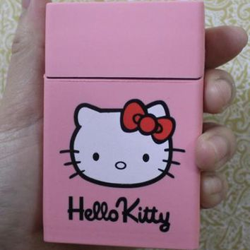 GUCCI & Adidas & Hello Kitty& KEEP CALM AND LIGHT UP Fashion Style Exquisite Pattern Silicone Cigarette Case Pink