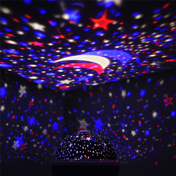 Sun Star Lighting Lamp LED 360 Degree Romantic Room Rotating Cosmos Star Projector Night Light Starry Moon Sky For Kid Christmas