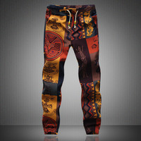 Mens Joggers Brand Male Trousers Men Linen Pants Casual Pants Sweatpants Jogger