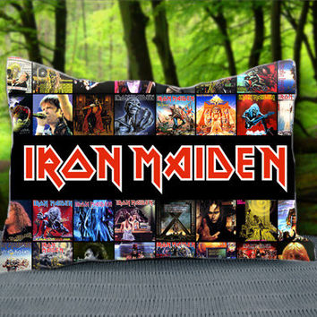 "IRON MAIDEN Metal Band ROCK Custom Pillow Case 30"" x 20"""