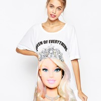 ASOS Queen Of Everything Barbie Oversized Night Tee