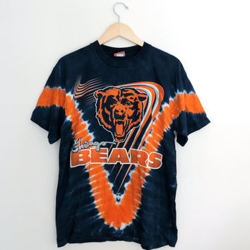 Vintage Chicago Bears Tie Dye T-Shirt Size LARGE