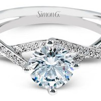 Simon G : Criss-Cross Engagement Ring : MR1394 : Arden Jewelers