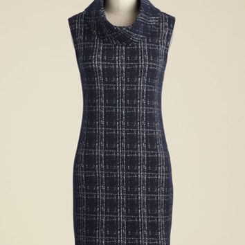 Sure Curator Sweater Dress in Navy | Mod Retro Vintage Dresses | ModCloth.com