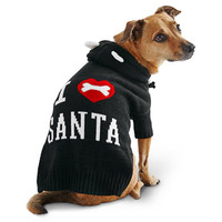 Petco Wag-a-tude Holiday I Love Santa Dog Sweater