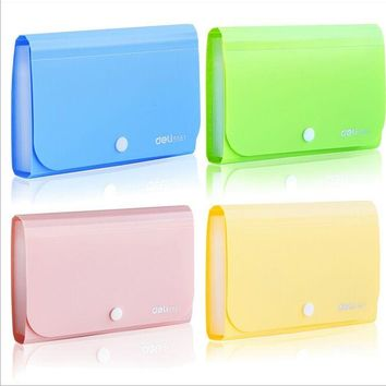 Mini size expanding wallet invoice/bill filing bag document file folder Elastic band translucent plastic material Multi-function
