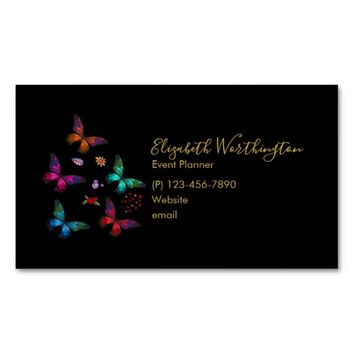 Pretty Little Butterflies Professional Magnetic Business Card