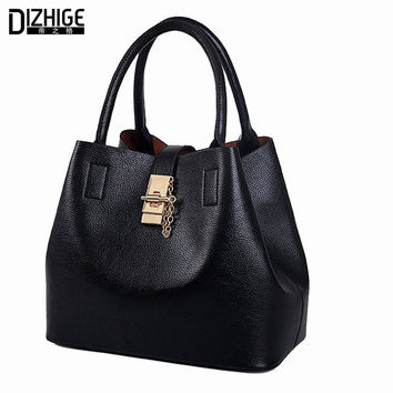 Famous Brand 2016 Fashion Candy Color Women Bags Mobile Messenger Ladies Handbag PU Leather High Quality General Picture Package