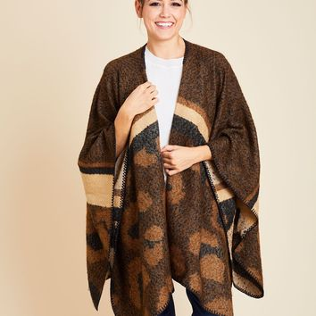 Panache Animal Print Poncho Wrap