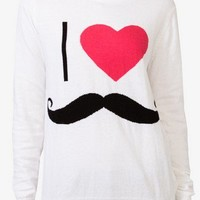 I Heart Mustaches Sweater | FOREVER 21 - 2027963374