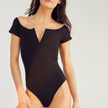 Out From Under V Wire Off-The-Shoulder Bodysuit | Urban Outfitters