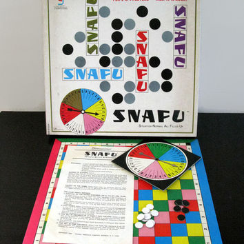 SNAFU, Situation Normal All Filled Up, 1969, Vintage Board Game, Family Game Night, Gamescience