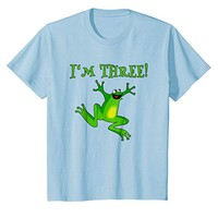 Kids Kids 3rd Birthday Frog T-shirt Cute Toad
