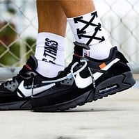 Off-White x Nike Air Max90 2.0 OW high elastic soft rubber black