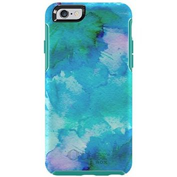 "OtterBox SYMMETRY SERIES Case for iPhone 6/6s (4.7"" Version) - Frustration Free Packaging - FLORAL POND (TEAL/W FLORAL POND)"