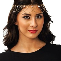 Fashion Chain Headband Head Shiny Piece Hair Band Multilayer Hairband