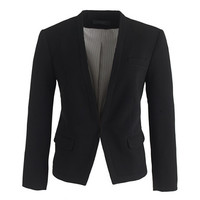 J.Crew Womens Collarless Cropped Tuxedo Blazer