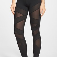 Women's Solow Sheer Inset Textured Knit Leggings,