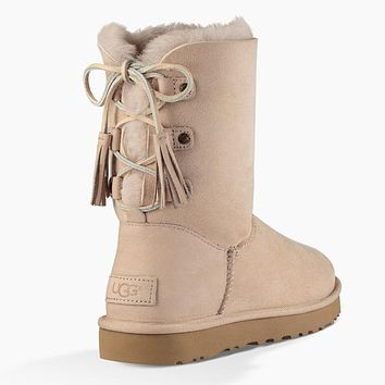 UGG Women Leather Shoes Winter Half Boots Shoes