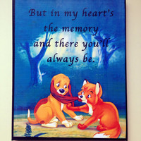 Fox & The Hound Quote on Canvas