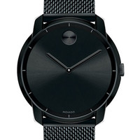 Movado Bold Bold Black Plated Watch with Mesh Steel Bracelet