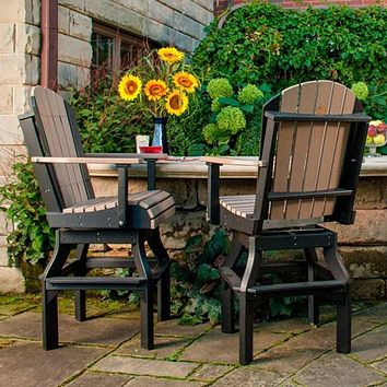 LuxCraft Recycled Plastic Adirondack Swivel Chair
