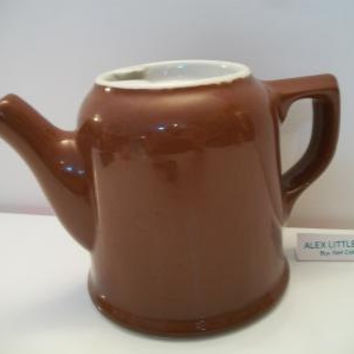 vintage brown Hall East Liverpool Ironstone teapot or coffee pot