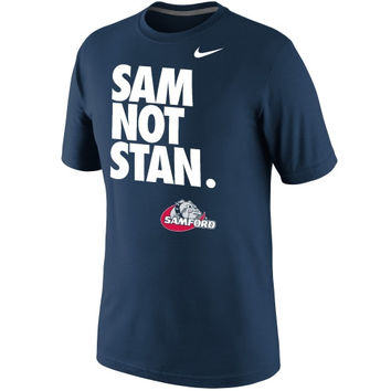 Nike Samford Bulldogs Sam Not Stan T-Shirt - Navy Blue