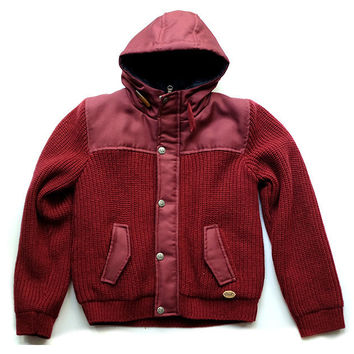 Gaudi - Boys Knitted Winter Jacket, Red - 8Y